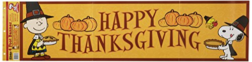 (Eureka Peanuts Classroom Banner, Happy Thanksgiving, 12