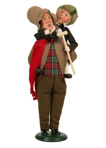 Byers' Choice Bob Cratchit & Tiny Tim Caroler Figurine 209 from The A Christmas Carol Collection (Choice Byers Christmas Carol)