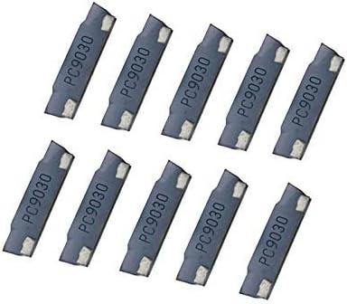 SUCAN 10pcs MGMN200-G PC9030 2mm Hartmetalleinsatz für MGEHR/MGIVR-Nutenabschneidewerkzeughalter