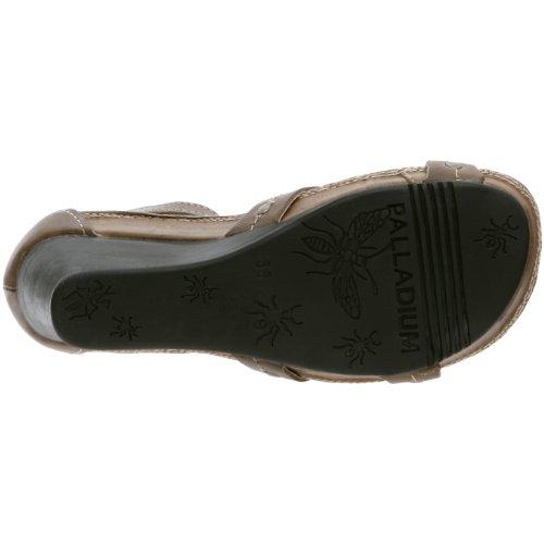 Palladium - Sandalias de cuero para mujer Marrón