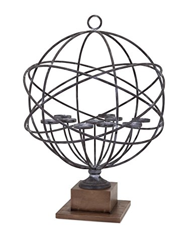 Home Collection 10462 Cowboy Armillary Candle Holder (Iron Western Candle Holder)