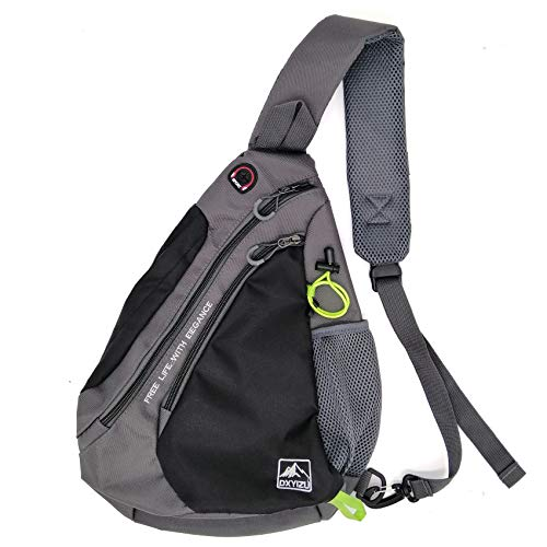 LKEX Sling Bag for Hiking One Strap Crossbody Daypack Waterproof Casual Chest Shoulder Backpacks, Urban Cycling Travel Triangle Rucksack for Men & Women