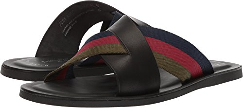 Italy Mens Sandals - Kenneth Cole New York Men's Kirby B Flat Sandal, Black Combo, 11 M US