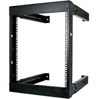 9U Open Wall Mount Frame Rack - Adjustable Depth 18-30