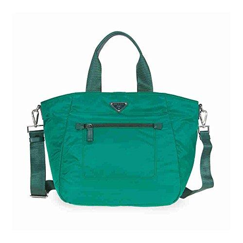 Prada Nylon Tote - Oleander (Prada Womens Nylon Handbag)