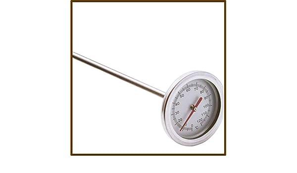 Yuayan 50cm Premium Stainless Steel Compost Soil Thermometer Garden Backyard 0℃-120℃