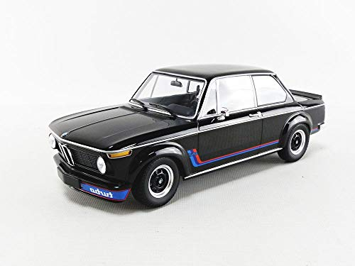 Minichamps 155026204 - B-M-W 2002 Turbo Black 1973 - scale 1/18 - miniature model car
