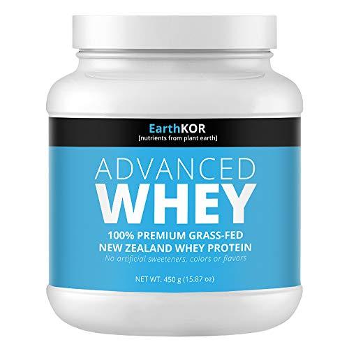 Amazon Brand - 100% Raw Pure Whey Protein Grass-fed, Cold Pressed Undenatured, rBGH-Free, Unflavored, No GMOs, Gluten-Free, 15.87 oz