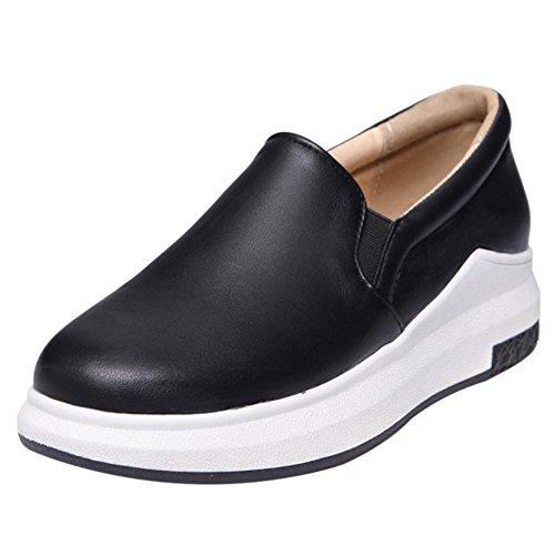 COOLCEPT Damen Ohne Verschluss Pumps Schuhe Black