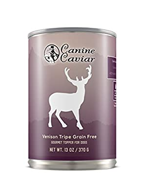 Canine Caviar 96-Percent Venison Tripe, 12.8 oz cans (12 in a case) from Canine Caviar Pet Foods Inc.