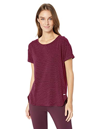 Amazon Essentials Women's Studio Relaxed-Fit Lightweight Crewneck T-Shirt, -wild ginger stripe, Small Big And Tall Relaxed Fit T-shirt