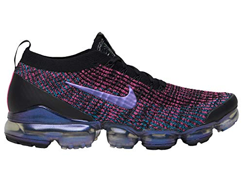 ce8a5ff24e75 Nike Men s Air Vapormax Flyknit 3 Black Racer Blue Laser Fuchsia Nylon  Running Shoes