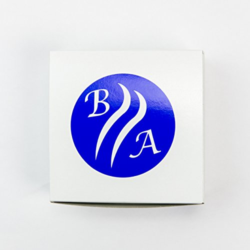 LARGE BLUE AGATE COASTERS Set of 4 Sliced Thick with Felt Bumper (4-5)   Authentic Handmade Brazilian coasters packaged in the USA by Babylon Agate (Image #7)