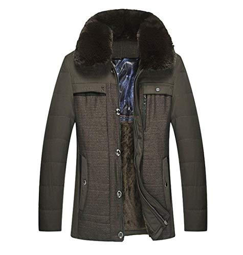 Huixin Pelliccia Caldo In Ispessito Inverno Giacca Abbigliamento Grün Finto Cappotto Parka Outwear Con Grau Collo Maschile aFcXBqxw1