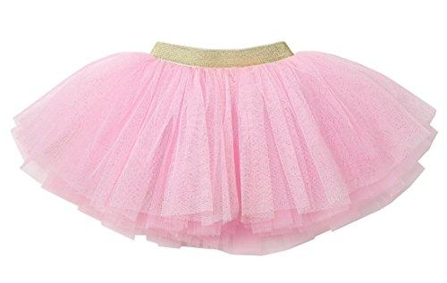 (WGOODTECK Newborn Infant Baby Girls Super Soft Glitter Sparkle Tulle Tutu Skirt(2-6Y,Pink))