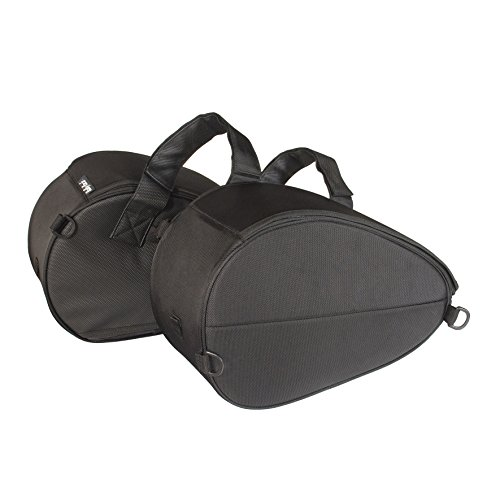 Dowco Rally Pack 50105-00 Water Resistant Motorcycle Saddlebags Set: Black, Universal Fit, 19 Liter Each/38 Liter Total - Safe 19l
