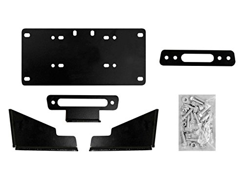 (SuperATV Heavy Duty Winch Mounting Plate for Kawasaki Mule Pro FXT/DX/DXT/FX/FXR)