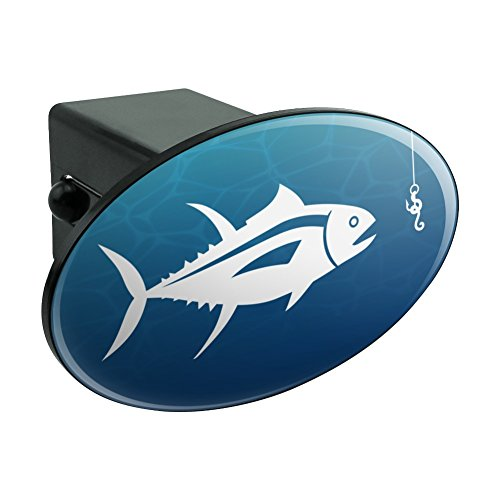 (Graphics and More Tuna Fish Fishing Fisherman Oval Tow Hitch Cover Trailer Plug Insert 2