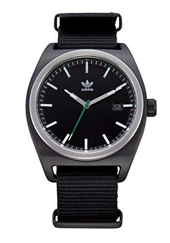 Adidas Watches Process_W2. NATO Nylon Strap, 20mm Width (Black/Silver/Green/Black. 40 mm). ... ()