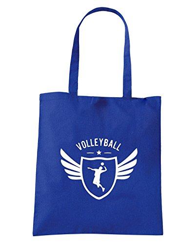 T-Shirtshock - Bolsa para la compra SP0150 Volleyball Winged Maglietta Azul Real