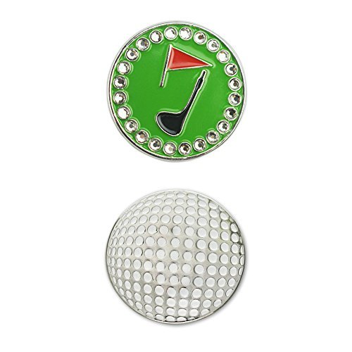 PINMEI Golf Ball Marker, Suit for Magnetic Golf Hat Clip or Divot Tool