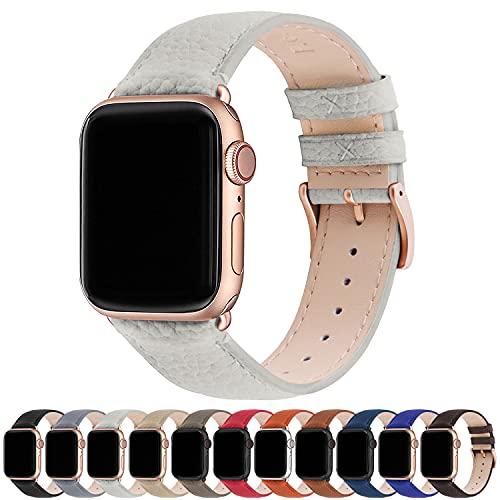 Fullmosa Compatibel Apple Watch armband 38mm 40mm 42mm 44mm, lederen band, iWatch-vervangingsband voor iWatch Serie SE/6…