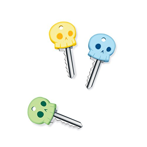 Fred SKELETON KEYS Glow-in-The-Dark Key Covers, Set of 6
