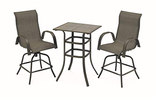 Courtyard Creations STS3X35 3 Piece Madison Collection Balcony Table Set