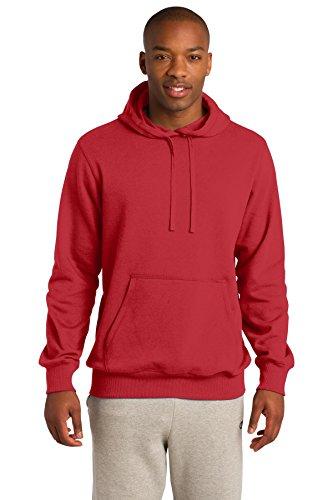 Sport-Tek Men's Pullover Hooded Sweatshirt L True Red