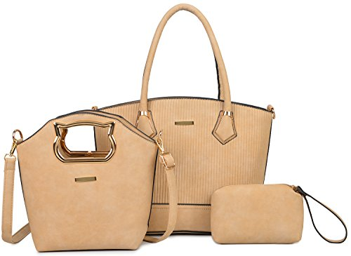 (Women Purses and Handbags Shoulder Bag Set for Women 3 PCS Tote Bag Gift Set)