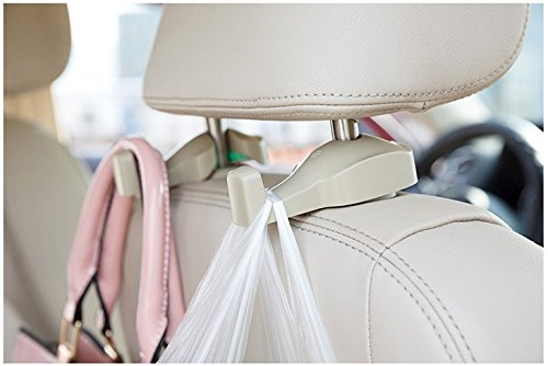 Suntin Car Back Seat Headrest Hanger Holder Hook for Bag Purse Cloth Grocery