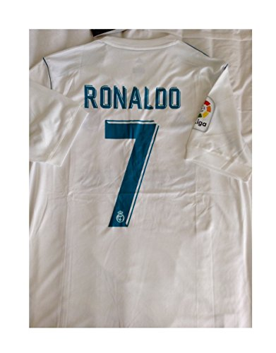 REAL MADRID HOME RONALDO #7 17/18 Soccer Jersey Men's Color WHITE Size M
