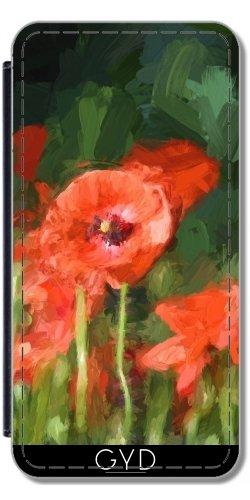 Leder Flip Case Tasche Hülle für Apple Iphone 7 / Iphone 8 - Monet, Sagte: Mohn 1 by UtArt