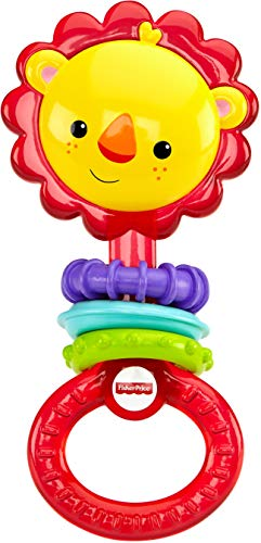 Fisher-Price Rattle, Lion - Den Price Fisher New Lions