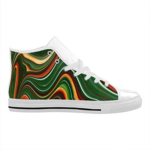 Action CHEESE in Pelle Custom High Design Importato da Donna Scarpe Christmas Top Sneaker Tela Comoda Aquila I8wH8Cqr