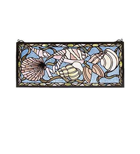 Meyda Tiffany 36431 Seashell Stained Glass Window, 24