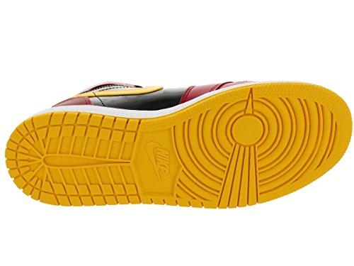 Nike Heren Air Jordan 1 Mid Basketbalschoen Zwart / Gym Rood / Universiteits Goud
