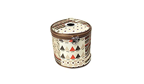 Godlife Dispensador de Papel Folk-Custom Cylinder Lace Tissue Caja de Almacenamiento Tissue Napkin Case para Tienda de campaña al Aire Libre Caja de Titular ...