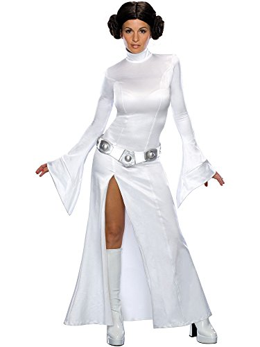(Secret Wishes Women's Sexy Princess Leia Costume, White, S)