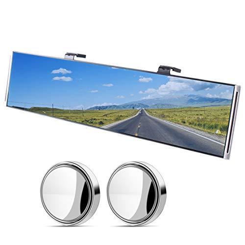 Wide Angle Car Rear View Mirror, Anti-Glare Universal Interior Clip On RearView Mirror for Car, SUV, Truck (30 cm x 8 cm, 11.8