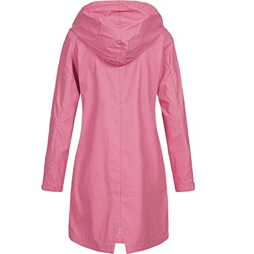 (Toimoth Women's Lightweight Rain Jacket Active Outdoor Waterproof Windproof Packable Hooded Raincoat (Pink,L))
