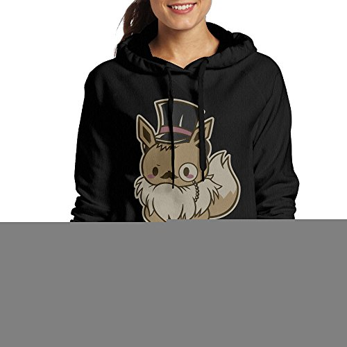 RCM Women's Good Eevee-Ning Gentlmen Hoodies Sweatshirt Black S ()