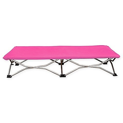 Regalo 47-Inch x 24.5-Inch Portable Folding Toddler Cot Suitable for Kid's Ages 2-5, Weight CapacityUp to 75 lbs. in Pink