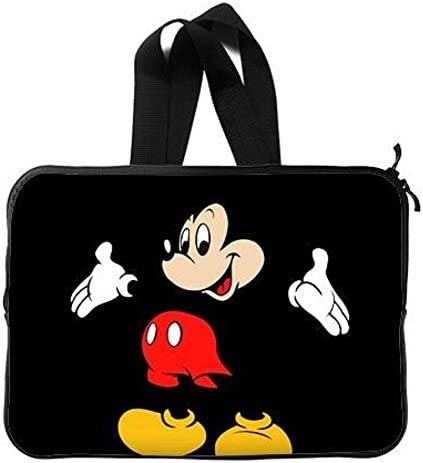 Mickey Mouse 10-13 13-17 Neoprene Laptop Sleeve Bag Carrying,Case Premium Laptop Briefcase Fits Up to 17 Inch Water-Repellent|for Travel//Business//School//Men//Women