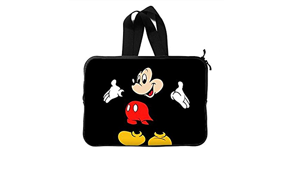 Protective Laptop Sleeve Bag Mickey and Minnie Waterproof Shock Resistant Bag Case Cover Compatible 13-15 Inch Notebook