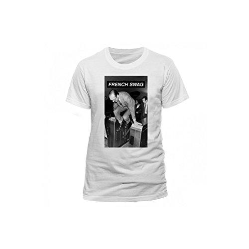 Blanc Chirac T shirt Métro Inconnu Swag qxTw41g4X