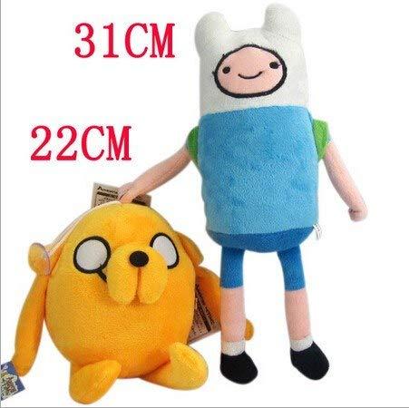 Full Moon 2pieces/lot Anime Adventure Time Finn Jake Plush Doll Stuffed Toys Movie Cartoon Toy Anime Plush Toys]()