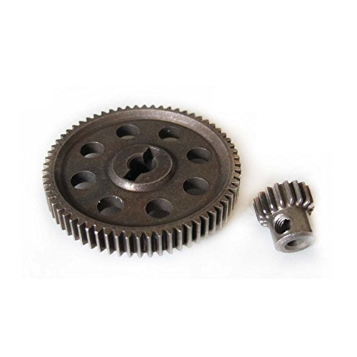 Hobbypower RC 1/10 11184 & 11119 Differential Steel Metal Main Gear 64T Motor Gear 17T
