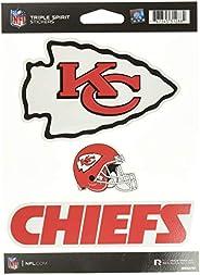 NFL Kansas City Chiefs Die Cut 3-Piece Triple Spirit Sticker Sheet