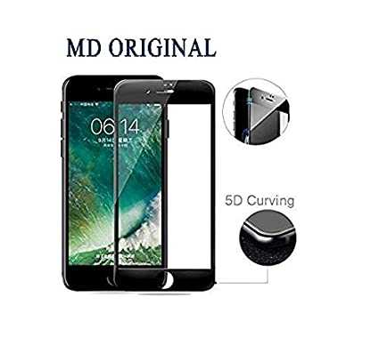 sale retailer ab906 362d4 MD ORIGINAL Full Cover Edge to Edge 5D Anti -Scratch Tempered Glass for  iPhone 6/6S (Black)